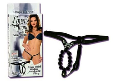 Lovers Thong WithStroker Beads