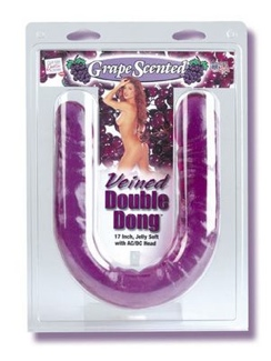 Veined Scented 17 Inch Double Dildo