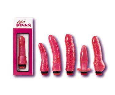 Hot Pink Curved Penis 7 Inch