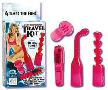Waterproof Travel Kit Mini-Massager Pink