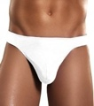 Pouch Thong Knit Silk White Small