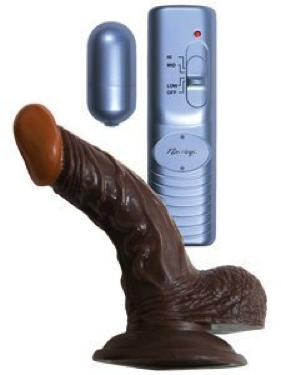 Afro American Whopper 5&Quot; Vibrating Brown