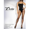 Sheer Bodystocking With Opaque Faux Teddy Black Queen