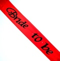 Bride 2B Flash Sash Red