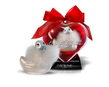 I Rub My Duckie Sweet Heart Travel Size