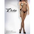 Cutout Fishnet Body Stocking With Bow Black Os