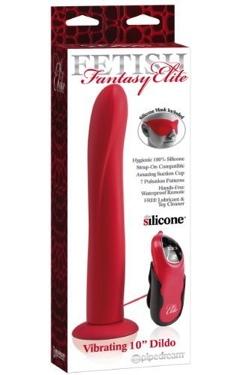 Fetish Fantasy Elite Vibrator Dildo Red