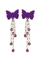 Body Charms Purple Butterfly