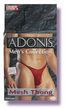 Adonis Mens Mesh Thong -Red