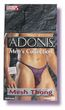 Adonis Mens Mesh Thong -Purple