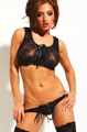 Leather And Lace 2Pc Set