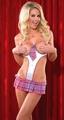 School Girl Teddy Pink/White O/S