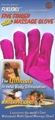 Five Finger Massage Glove Left Handed Fuchsia