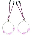 Nipple Clamps WithBeads On Hoop Pink