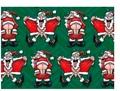 Flashing Santa Green Gift Wrap