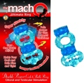 Double Power Cock And Ball Ring Blue