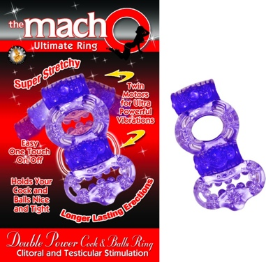 Double Power Cock And Balls Ring