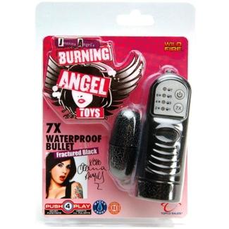 Burning Angel 7X Bullet Black